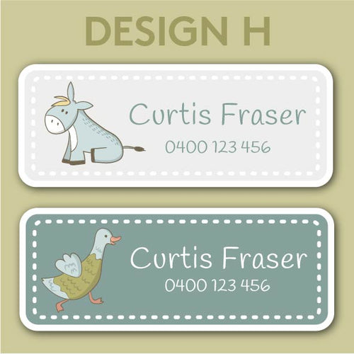 Name and Clothing Labels - Design H