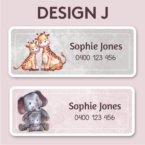 Name and Clothing Labels - Design J