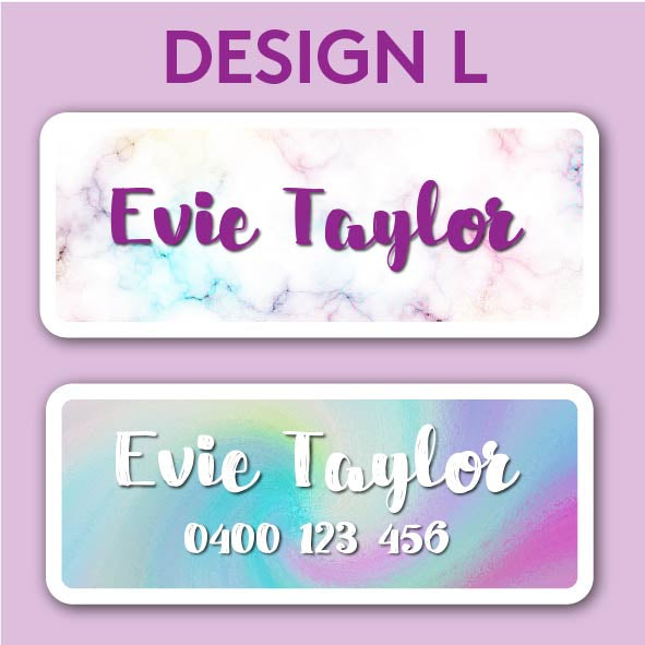 Name and Clothing Labels - Design L