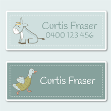 Name and Clothing Labels - Farm Animals