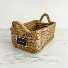 Palm Leaf Straw Baskets With Handles - Multiple Sizes