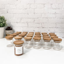24 x 75ml Bamboo Spice Jars & Design 27 Spice Label Pack Bundle