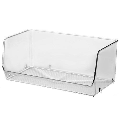 Large Clear Stackable Container - 31cm x 16.5cm x 13cm