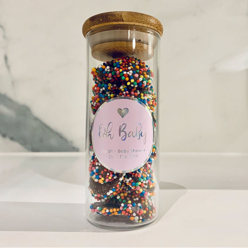 Party Favour Labels & Jars - Pack of 10