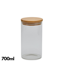 Pantry Glass Jars with Bamboo Lid