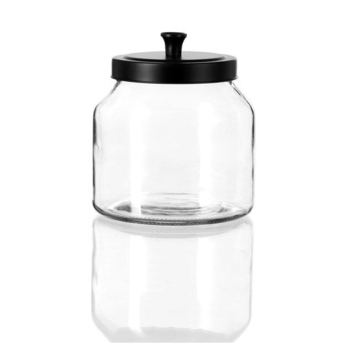 Cosmo Glass Jar with Black Lid - 2L