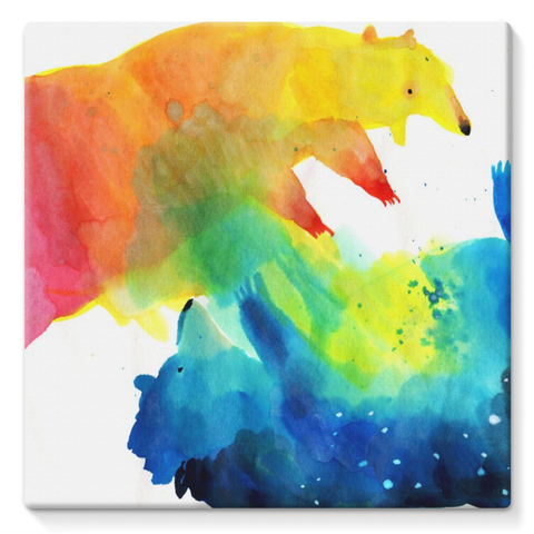 Fighting Bears Canvas