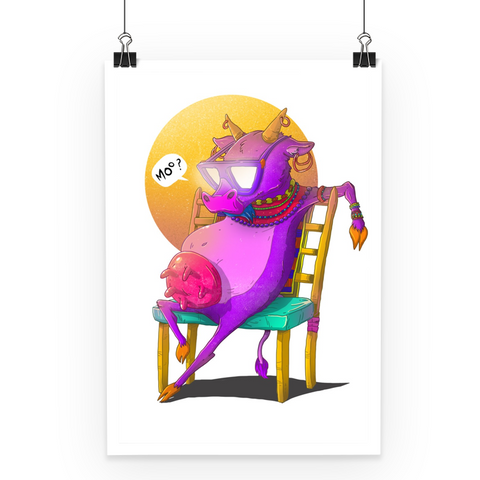 Chill Cow Poster