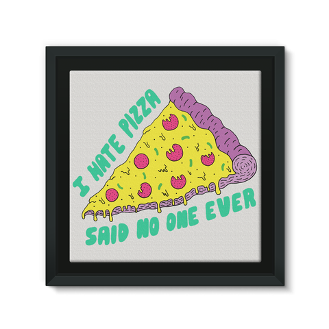 framed pizza canvas