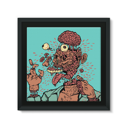 Imploded Load Framed Canvas