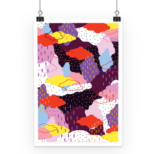 purple winter poster