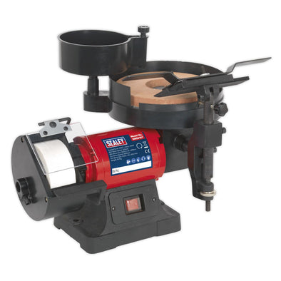 Sealey Bench Grinder/Sharpener Wet & Dry Ø200/125mm 250W/230V