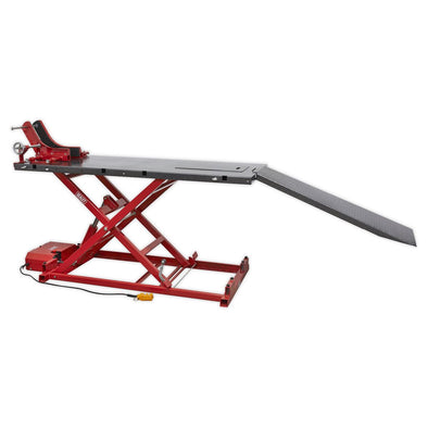 Sealey Motorcycle Lift 680kg Capacity Heavy-Duty Electro/Hydraulic