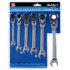 BlueSpot 6 Piece Flexible Head Combination Ratchet Spanner Set 8-17mm