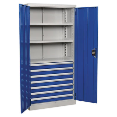 Sealey Premier Industrial Industrial Cabinet 7 Drawer 3 Shelf 1800mm