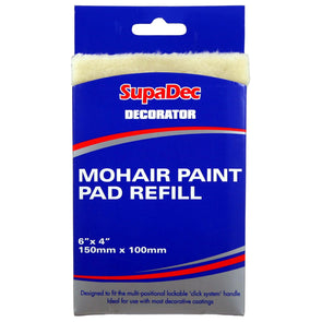 SupaDec Decorator 150mm x 100mm Mohair Paint Pad Refill