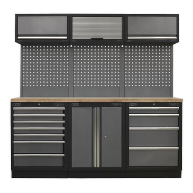 Sealey Superline Pro Modular Storage System Combo - Pressed Wood Worktop