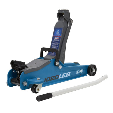 Sealey Trolley Jack 2tonne Low Entry Short Chassis - Blue