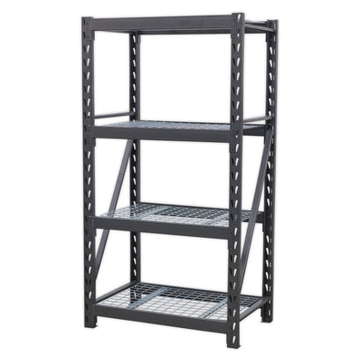 Sealey Heavy-Duty Racking Unit with 4 Mesh Shelves 640kg Capacity Per Level 978mm