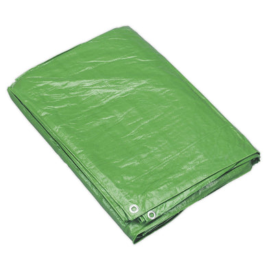 Sealey Tarpaulin 3.05 x 3.66m Green