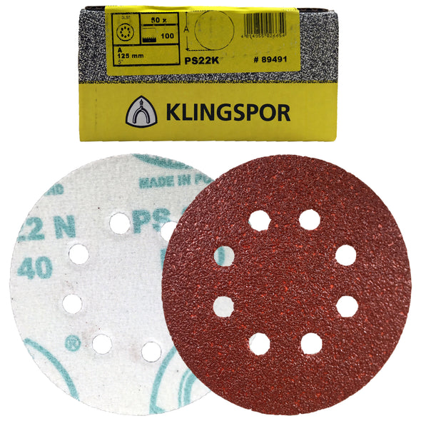 Klingspor PS22K Hook and Loop Sanding Discs 40-400 Grit