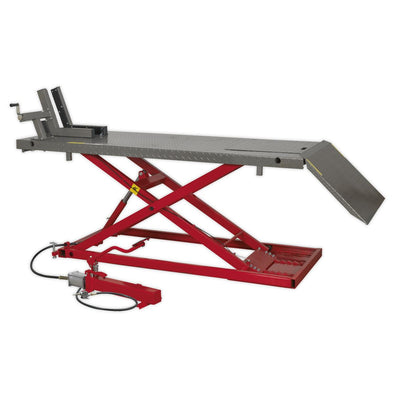 Sealey Motorcycle Lift 680kg Capacity Heavy-Duty Air/Hydraulic