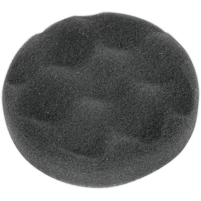 Sealey Hook and Loop Buffing and Polishing Foam Head 80mm x 25mm Black Soft