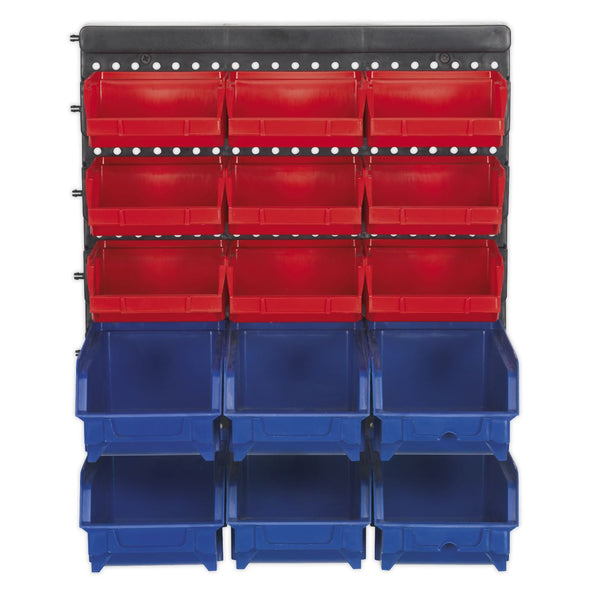 Sealey Bin Storage System Wall Mounting 15 Bins