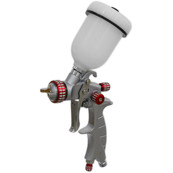 Sealey Premier HVLP Gravity Feed Touch Up Spray Gun 1mm Nozzle Set Up