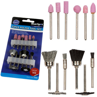 BlueSpot 12 Piece Polishing Rotary Tool Accessory Kit