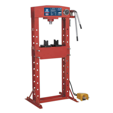 Sealey Premier Air/Hydraulic Press 30tonne Floor Type with Foot Pedal