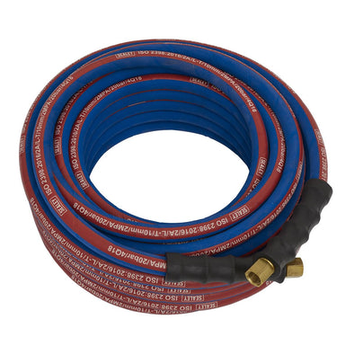 "Sealey Air Hose 15m x Ø10mm with 1/4""BSP Unions Extra-Heavy-Duty"