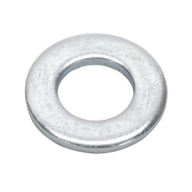Sealey Flat Washer M8 x 17mm Form A Zinc Pack of 100