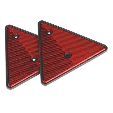 Sealey Rear Reflective Red Triangle Pack of 2