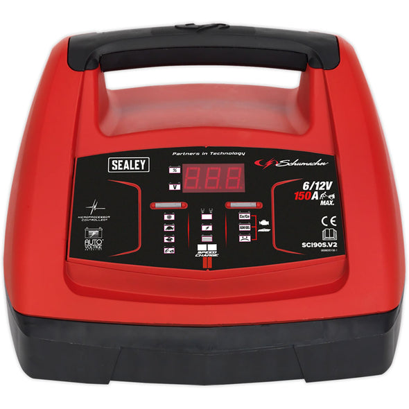 Sealey 150 Amp Starter 20 Amp Intelligent Speed Charge Battery Charger 6/12V