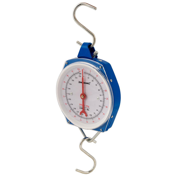 Silverline Hanging Scales Heavy Duty 100kg Metric and Imperial Rigid Hook Fishing