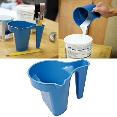 Silverline 600ml Plastic Paint Kettle Varnish Brush Holder Pot Tray Spout