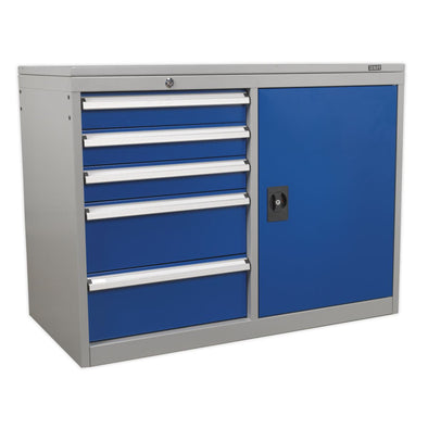 Sealey Premier Industrial Industrial Cabinet/Workstation 5 Drawer & 1 Shelf Locker