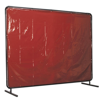 Sealey Workshop Welding Curtain to BS EN 1598 & Frame 2.4 x 1.75m