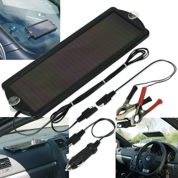 Sealey 12V 1.5W Solar Power Panel Battery Trickle Charger