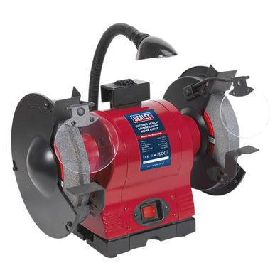 Sealey Bench Grinder Ø200mm with Work Light 550W/230V