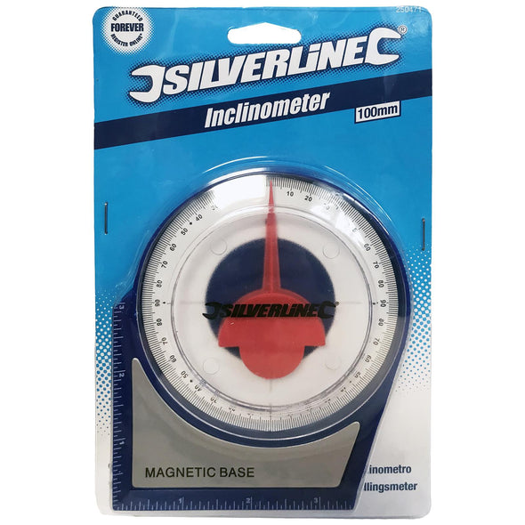 Silverline Inclinometer Roofing Scaffolding 100mm Angle Measurement Level Gauge