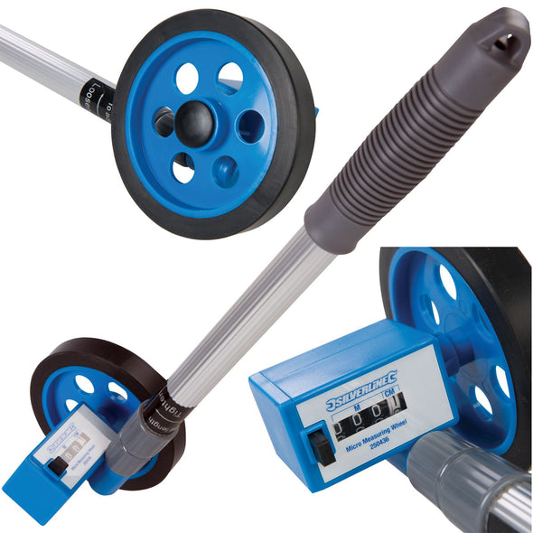Silverline 999m Micro Measuring Wheel Telescopic 0-999m Metric Compact Distance