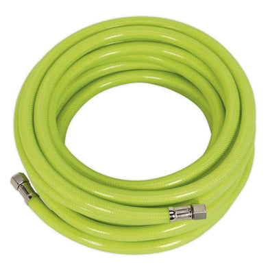 "Sealey Air Hose High Visibility 10m x Ø8mm with 1/4""BSP Unions"