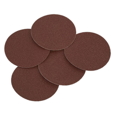 Sealey Sanding Disc Ø125mm 80Grit Adhesive Backed Pack of 5