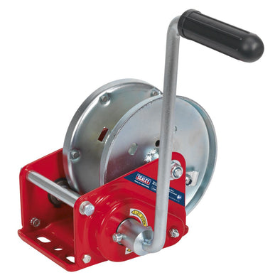 Sealey Geared Hand Winch with Brake 900kg Capacity