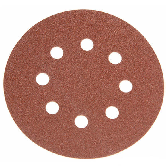 Faithfull 25 Pack 125mm Hook & Loop Sanding Discs