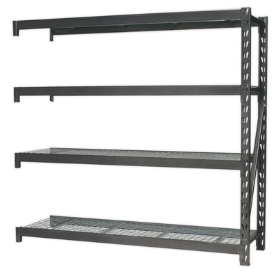 Sealey Heavy-Duty Racking Extension Pack with 4 Mesh Shelves 640kg Capacity Per Level