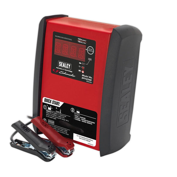 Sealey Intelligent Speed Charge Battery Charger 15Amp 12V/10Amp 24V