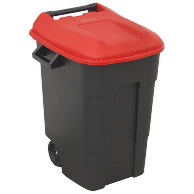 Sealey Refuse/Wheelie Bin 100L - Red